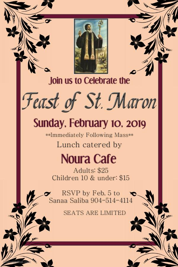 ST Maron Feast Flyer