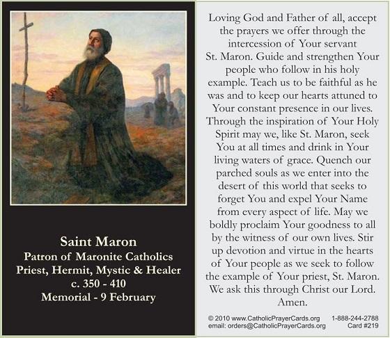 St Maron Prayer
